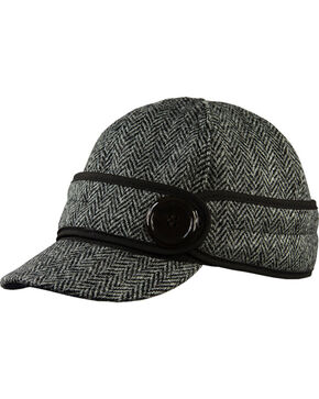 Stormy Kromer Women's Black Harris Tweed The Button Up Cap, Multi, hi-res