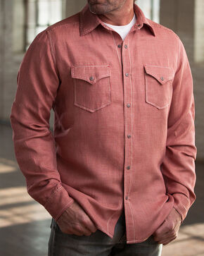 Ryan Michael Men's Cherry Vintage Pick Stitch Houndstooth Shirt, Red, hi-res