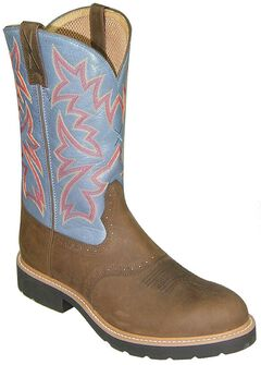 Twisted X Men's Saddle Vamp Pull-On Work Boots - Steel Toe, , hi-res
