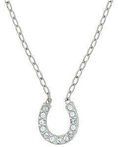 Montana Silversmiths Lucky Horseshoe Necklace, , hi-res