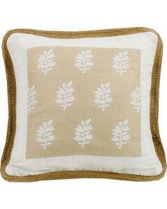 HiEnd Accents Cream Newport Square Pillow, , hi-res