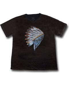 Hooey Men's First Headdress Graphic T-Shirt Black, , hi-res