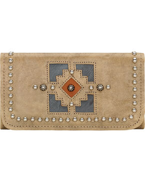 American West Annie's Secret Sand Tri-Fold Wallet, Sand, hi-res