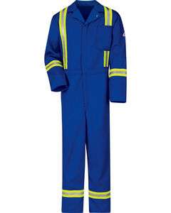Bulwark Men's Royal Blue Flame Resistant Excel Reflective Coveralls, , hi-res