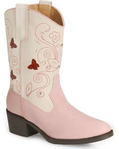 Roper Girls' Butterfly Light Cowgirl Boot - Round Toe, , hi-res