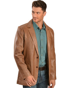 Scully Lamb Leather Blazer - Big & Tall, , hi-res