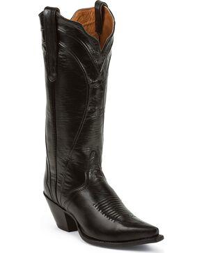 Nocona Acento Cowgirl Boots - Snip Toe, Black, hi-res