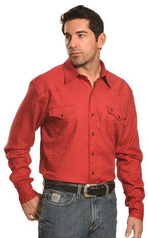 Garth Brooks Sevens by Cinch Red Paisley Western Shirt , Red, hi-res