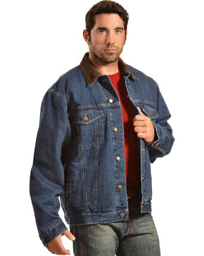 Exclusive Gibson Trading Co. Blanket Lined Denim Jacket, Denim, hi-res