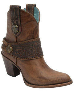 Corral Engraved Harness Short Boots - Medium Toe, , hi-res