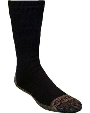 Carhartt Black Full Cushion Steel-Toe Synthetic Work Boot Socks - 2 Pack, Black, hi-res
