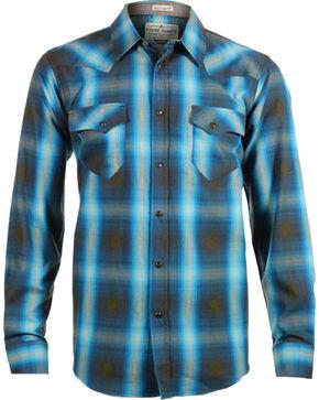 Cody James Men's 8 Seconds Plaid Long Sleeve Shirt, Brown, hi-res