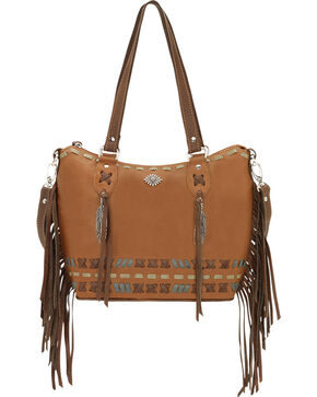 American West Mohican Melody Collection Convertible Bucket Tote, Tan, hi-res