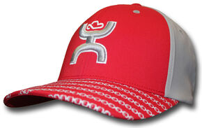 HOOey Men's Red Solo III FlexFit Hat  , Red, hi-res