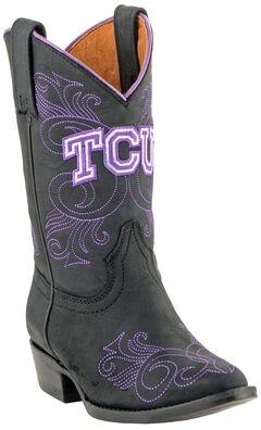 Gameday Boots Girls' Texas Christian University Western Boots - Medium Toe, , hi-res