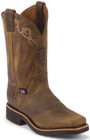 Chippewa Women's Golden Sand Western Work Boots - Square Toe, Golden, hi-res