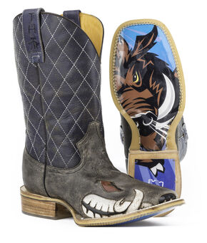 Tin Haul Men's Not Boaring Cowboy Boots - Square Toe, Brown, hi-res