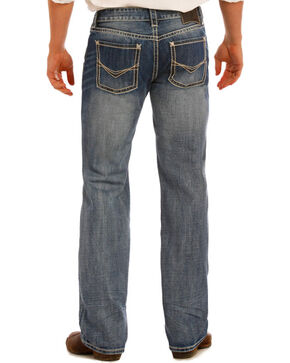 Rock & Roll Cowboy Men's Indigo Pistol Flex Jeans - Straight Leg , Indigo, hi-res