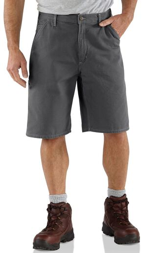 Carhartt Canvas Utility Shorts, Charcoal Grey, hi-res