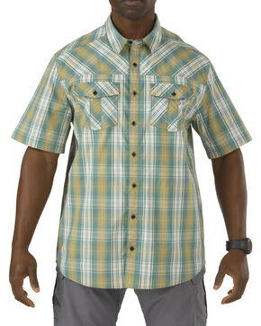 5.11 Tactical Covert Shirt - Double Flex, Green Plaid, hi-res