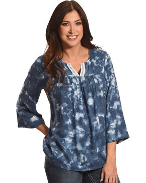 Wrangle Women's Tie Dye Printed Top, Multi, hi-res