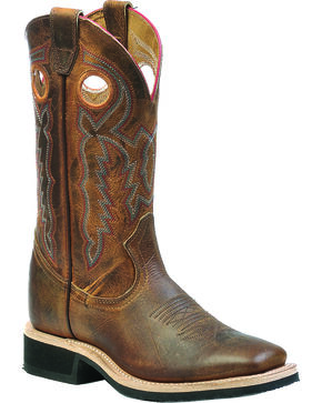 Boulet Laid Back Tan Spice Dual Density Cowgirl Boots - Square Toe, Tan, hi-res