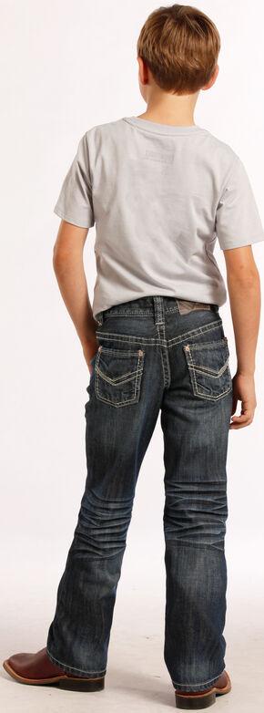 Rock and Roll Cowboy Boys' Thin V Jeans - Regular Fit , Denim, hi-res