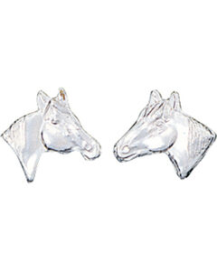 Montana Silversmiths Little Silver Horse Head Earrings, , hi-res