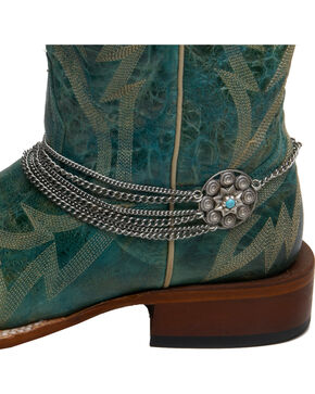 Cowgirl Confetti by AndWest Concho & Multi Chain Boot Bracelet, Silver, hi-res