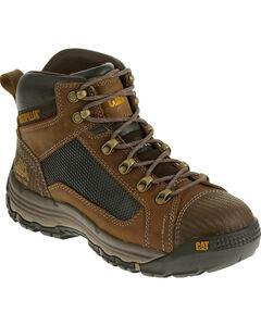 Caterpillar Men's Dark Beige Convex Mid Work Boots - Steel Toe , , hi-res