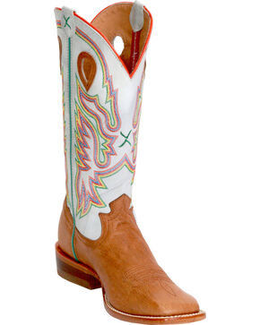 Twisted X Blue Ice Ruff Stock Cowgirl Boots - Square Toe, Peanut, hi-res
