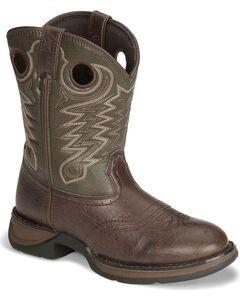 Durango Boys' Dark Brown Lil' Rebel Cowboy Boots, , hi-res