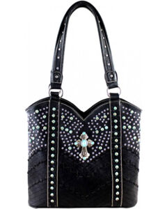 Montana West Black Spiritual Collection Tote, , hi-res