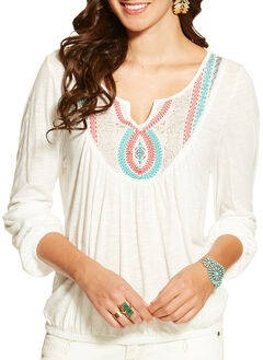 Ariat Women's Taylor Embroidered Top, , hi-res