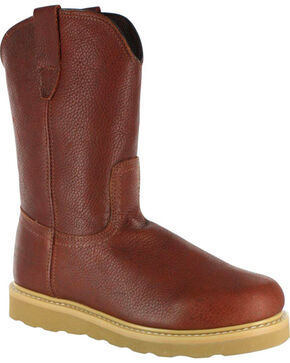 American Worker Men's Work Boot - Round Toe, Russett, hi-res