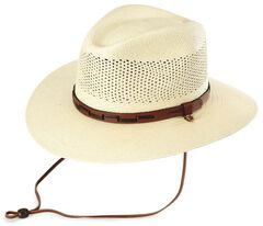 Stetson Airway UV Protection Straw Hat, , hi-res