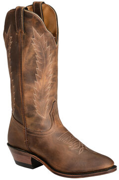 Boulet Fancy Stitched Cowgirl Boots - Medium Toe, , hi-res