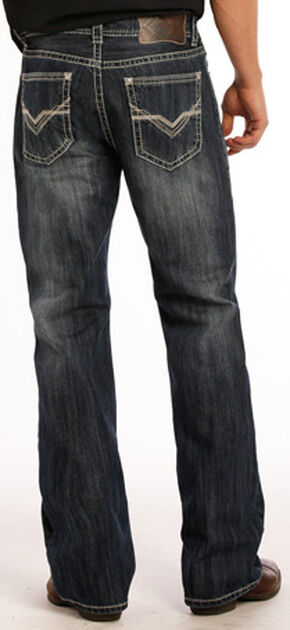 Rock and Roll Cowboy Double Barrel Running V Jeans - Boot Cut , Indigo, hi-res