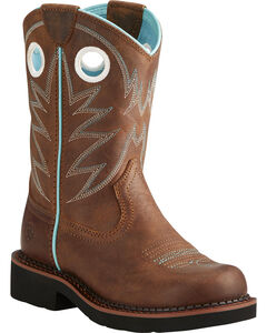 Ariat Fatbaby Girls' Probably Cowgirl Boots - Round Toe, , hi-res