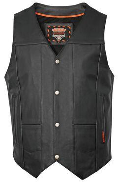 Interstate Leather Multiple Pocket Vest - Big & Tall, , hi-res