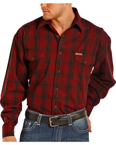 Powder River by Panhandle Men's Plaid Snap Flannel Shirt, , hi-res