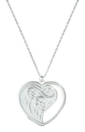Montana Silversmiths Women's Hearts Swept Away Necklace , Silver, hi-res