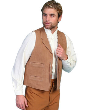 Wahmaker by Scully Leather Range Vest, Brown, hi-res