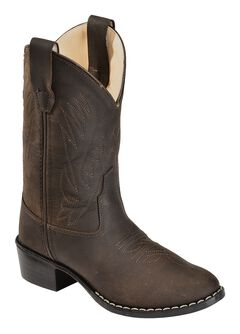 Old West Youth Boys' Distressed Ultra Flex Cowboy Boots - Round Toe, , hi-res