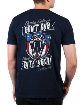 Cody James Men's Bite Back Short Sleeve T-Shirt, Navy, hi-res