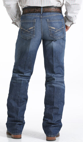 Cinch Grant Medium Stonewash Relaxed Fit Jeans - Boot Cut   , Indigo, hi-res