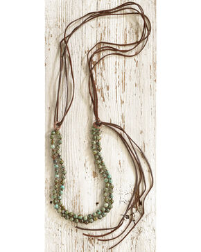 Jewelry Junkie Women's Double Strand African Turquoise Necklace, Green, hi-res