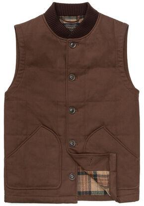 Pendleton Men's Brown Canvas Journey Vest, Brown, hi-res