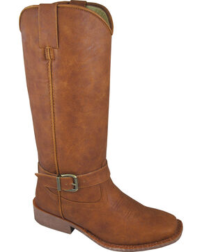 Smoky Mountain Buttercup Tall Riding Boots - Square Toe, Tan, hi-res