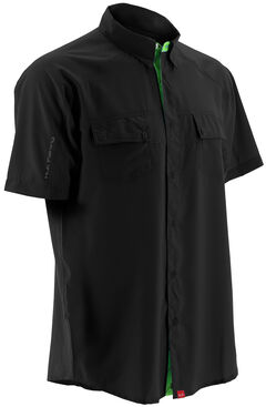 Huk Performance Fishing Men's Next Level Woven Short Sleeve Shirt , , hi-res